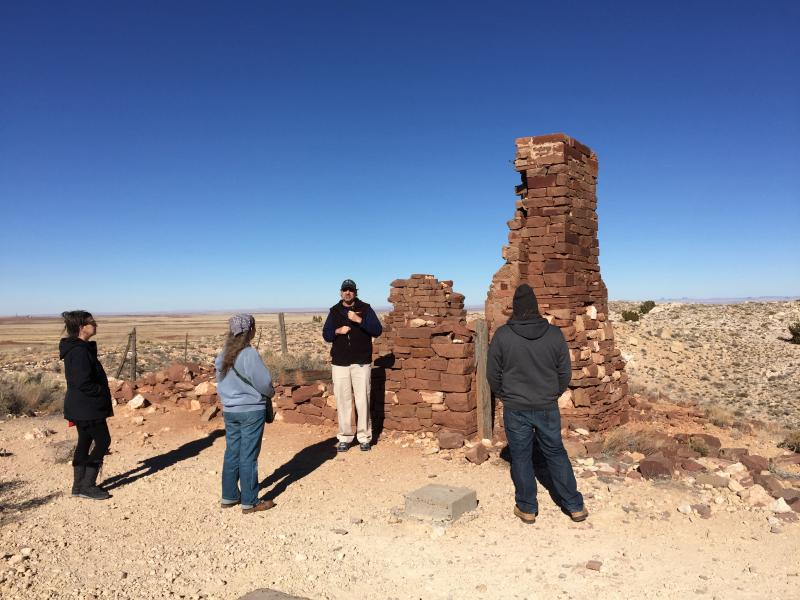 Guided tours at Barringer Crater, Meteor Crater, Arizona