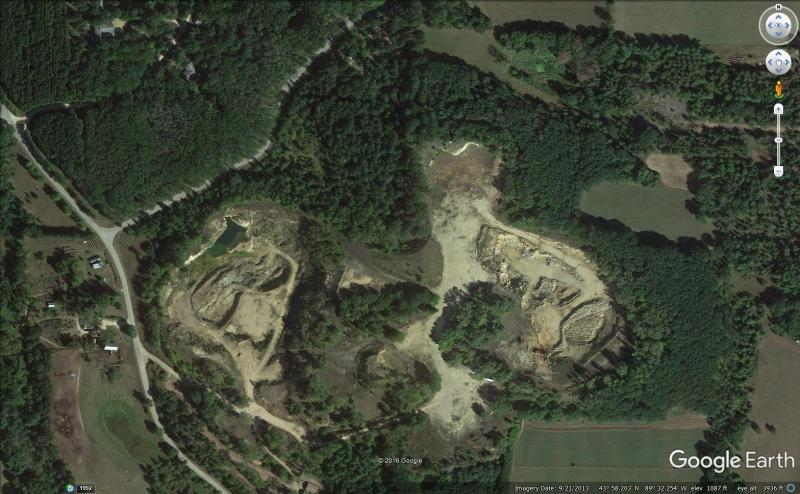 Glover Bluff Crater Quarries, Wisconsin