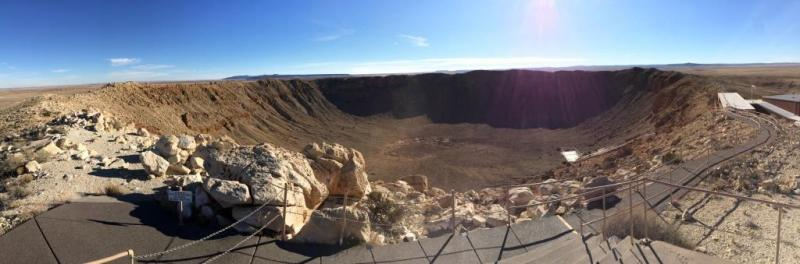 Meteor Crater, Arizona, panorama picture, Barringer Crater